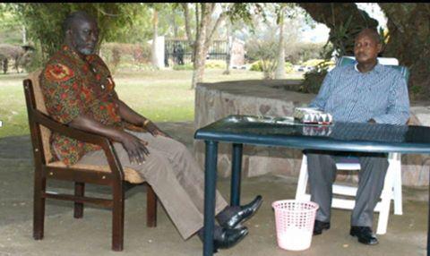 John Garang, hours before plane crash