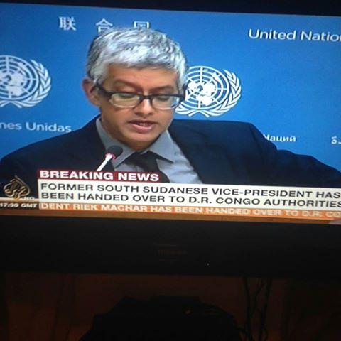 UN Flew Riek Machar to DRC Congo