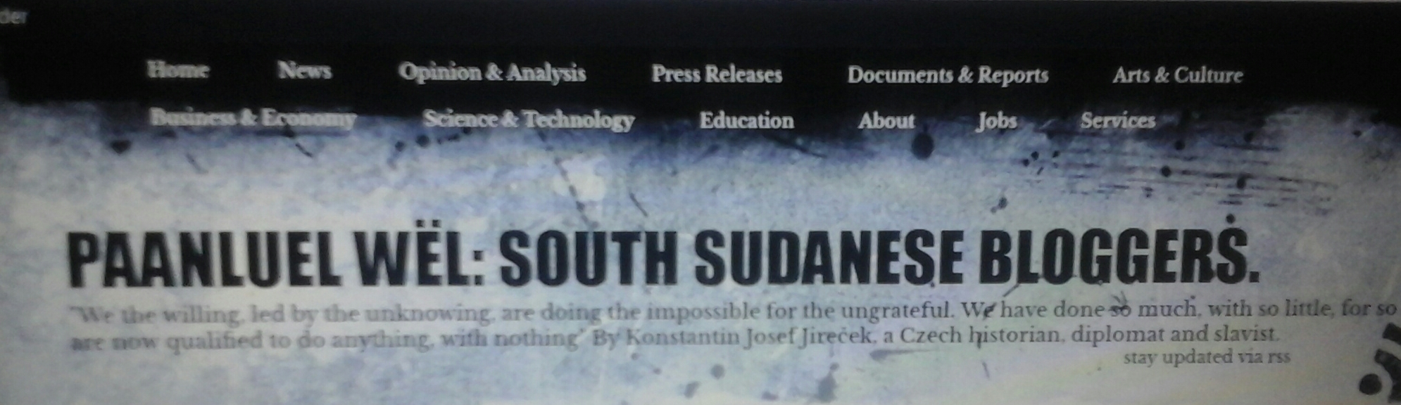 PaanLuel Wël: South Sudanese Bloggers (SSB): The Best Articles, Writers, of the Year 2016
