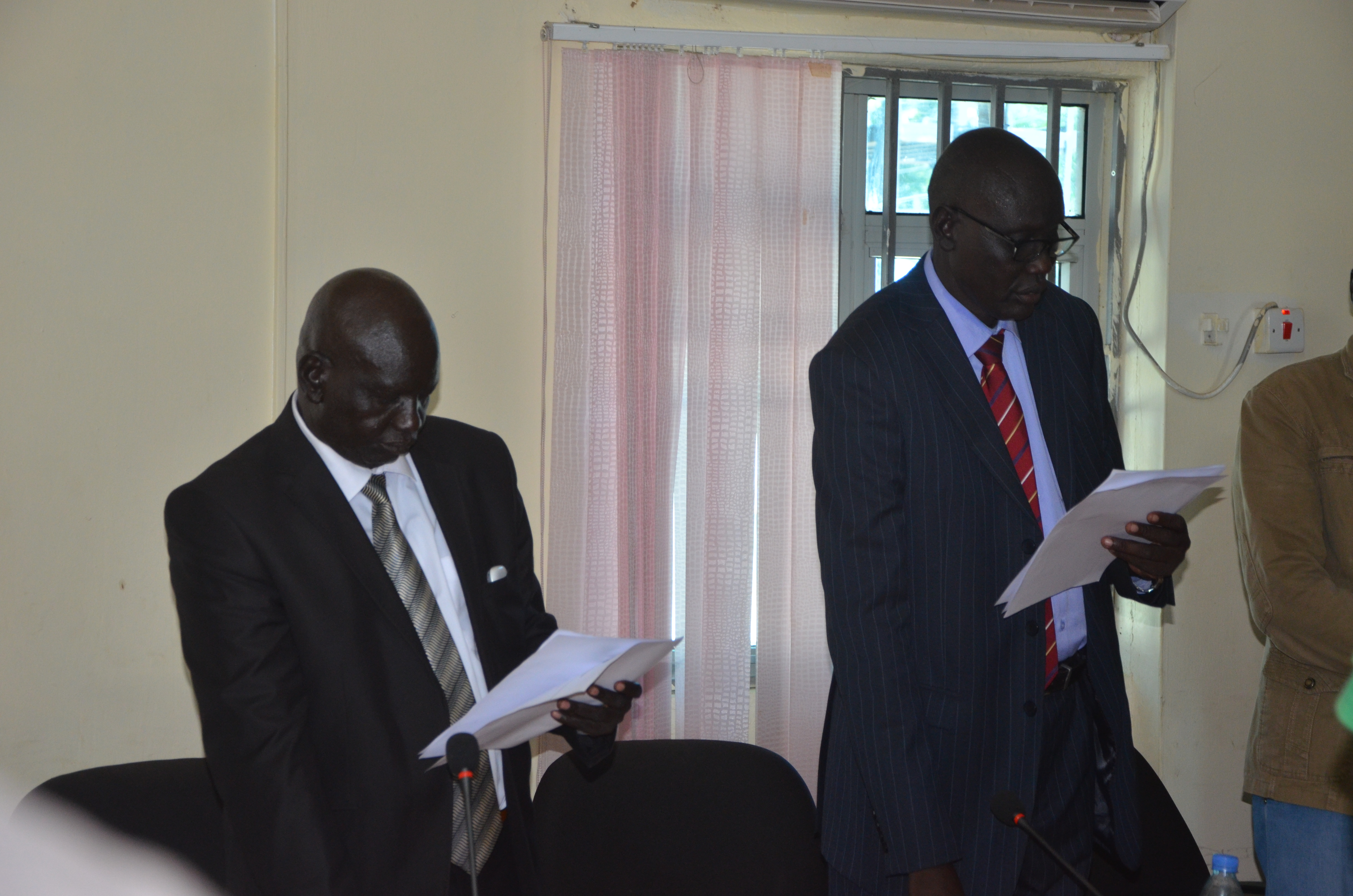 Hon Akech Yen being sworn into office on January 3, 2017 at council of ministers picture by Mach Samuel.JPG