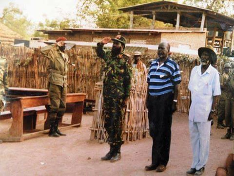 Kiir and Garang, liberation day