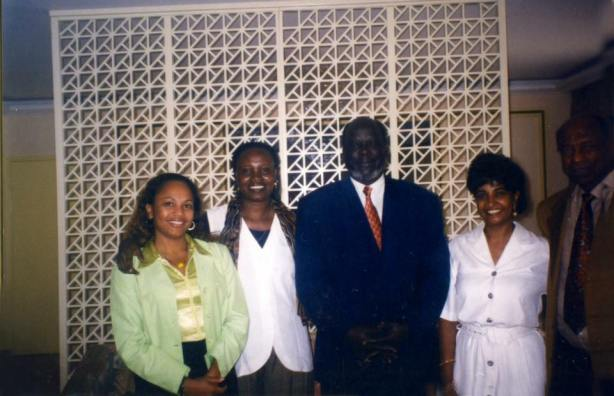 John Garang wih the family of Jambo