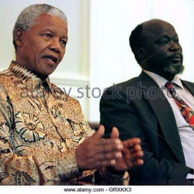 Mandela and John Garang