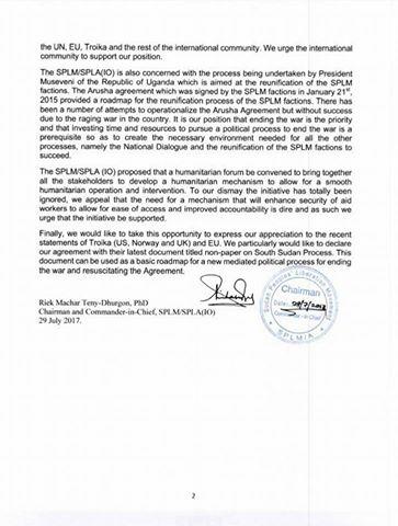 Riek Machar denounces IGAD's revitalization forum2