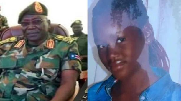 Gen Paul Malong and his late daughter, Alakiir Malong Awan