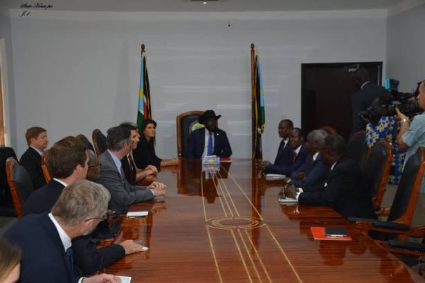President Kiir and Ambassador Nikki Halley
