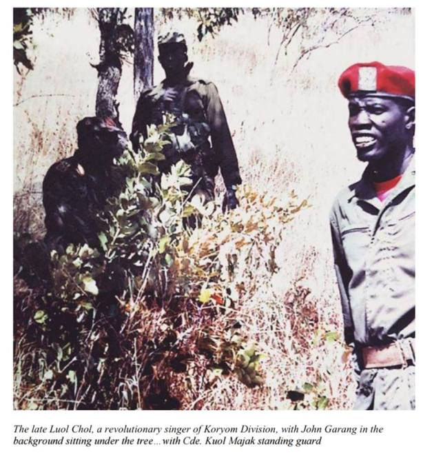 john garang in the bush