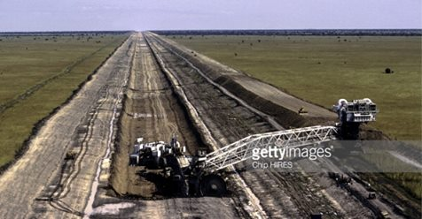 Construction of the Jonglei Canal in Sudan on February 24th,1983