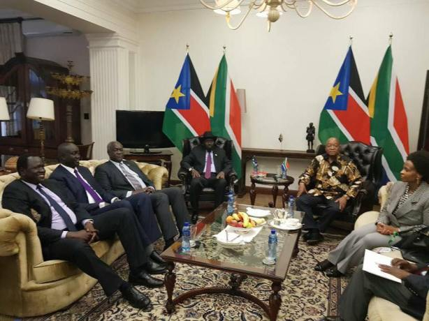 Jacob Zuma and Salva Kiir, 21 Jan 2018, Juba