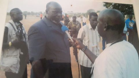john garang with David Majur amuor