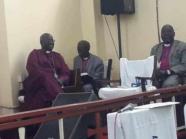 The outgoing Archbishop, Dr. Daniel Deng Bul