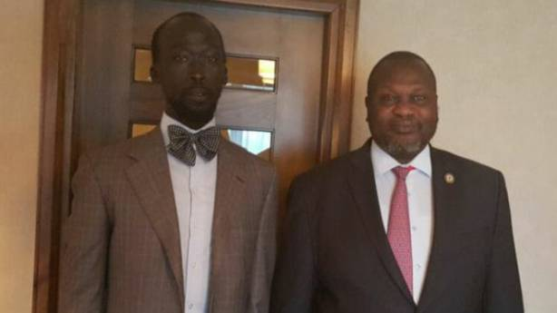 Riek Machar and Mabior Garang de Mabior
