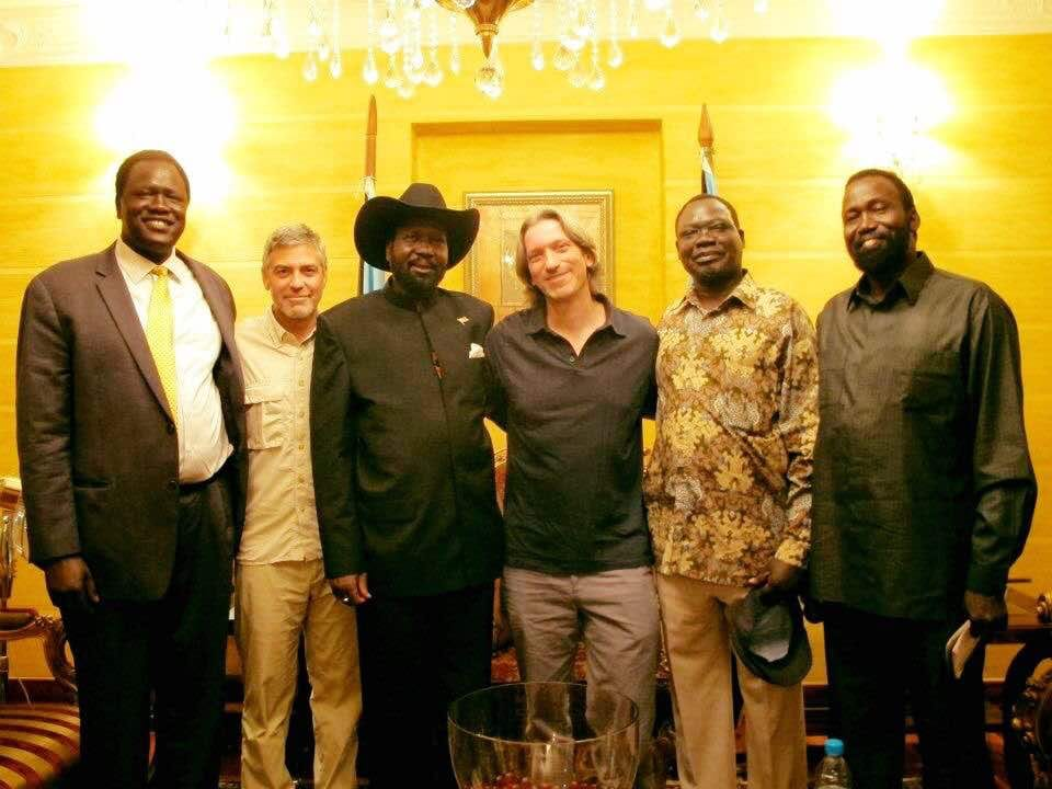 Kiir, Clooney, Prendagast, Oyai, Mayen Wol and Ezekiel Lol