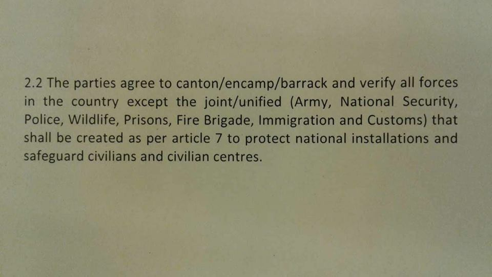 Cantonment of forces