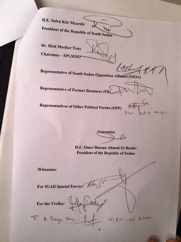 Khartoum Declaration - Khartoum to assume control of South Sudan's oilfields4