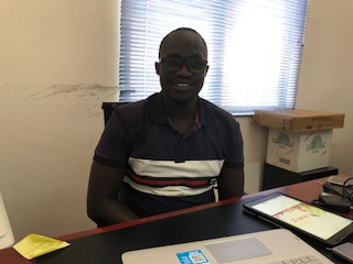 Mr. Wani Michael in his Office in Juba