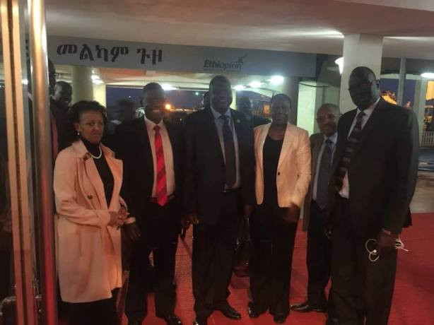 Riek Machar arrival in Addis Ababa, 20 June 2018