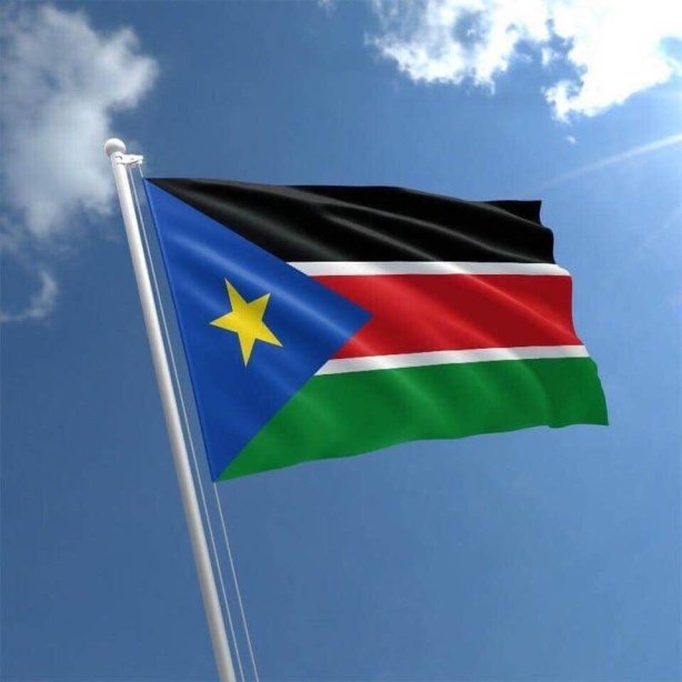 The Flag of the Republic of South Sudan