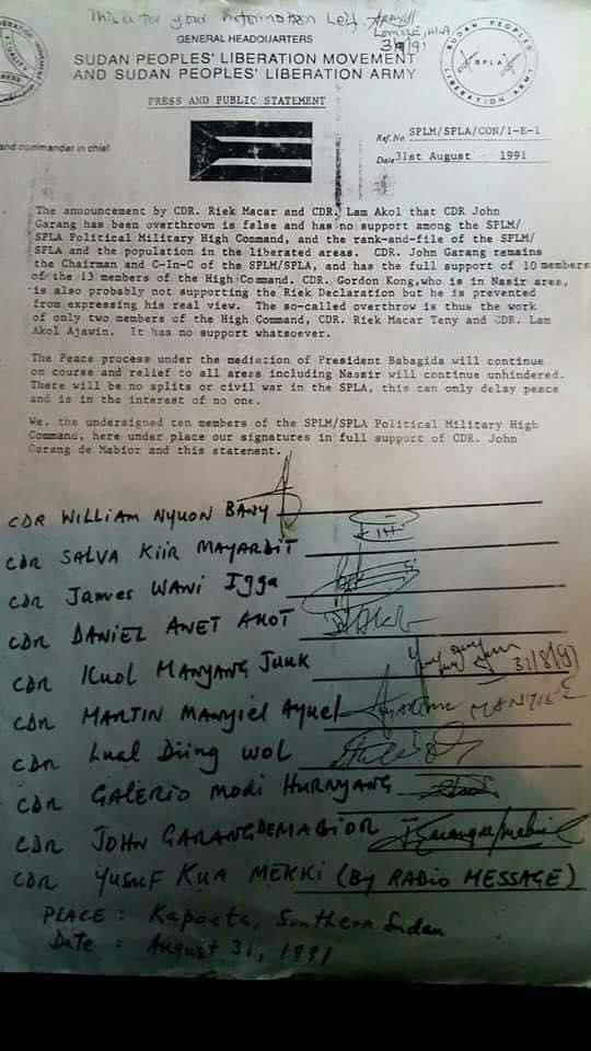 1991 Nasir Coup