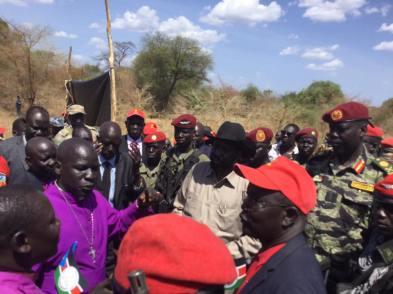 Awerial, Lakes State, President Kiir tour of Bahr el Ghazal region11