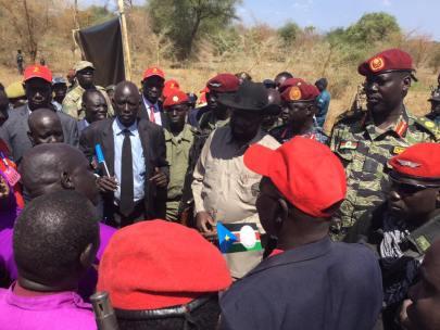 Awerial, Lakes State, President Kiir tour of Bahr el Ghazal region12