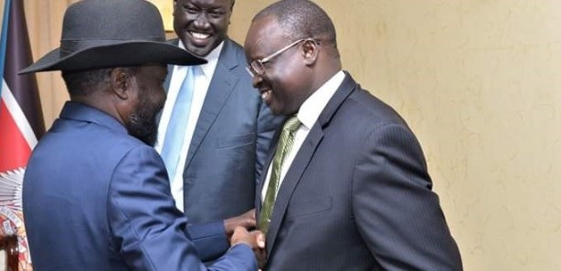 Dr Majak Agot with President Kiir, December 2018