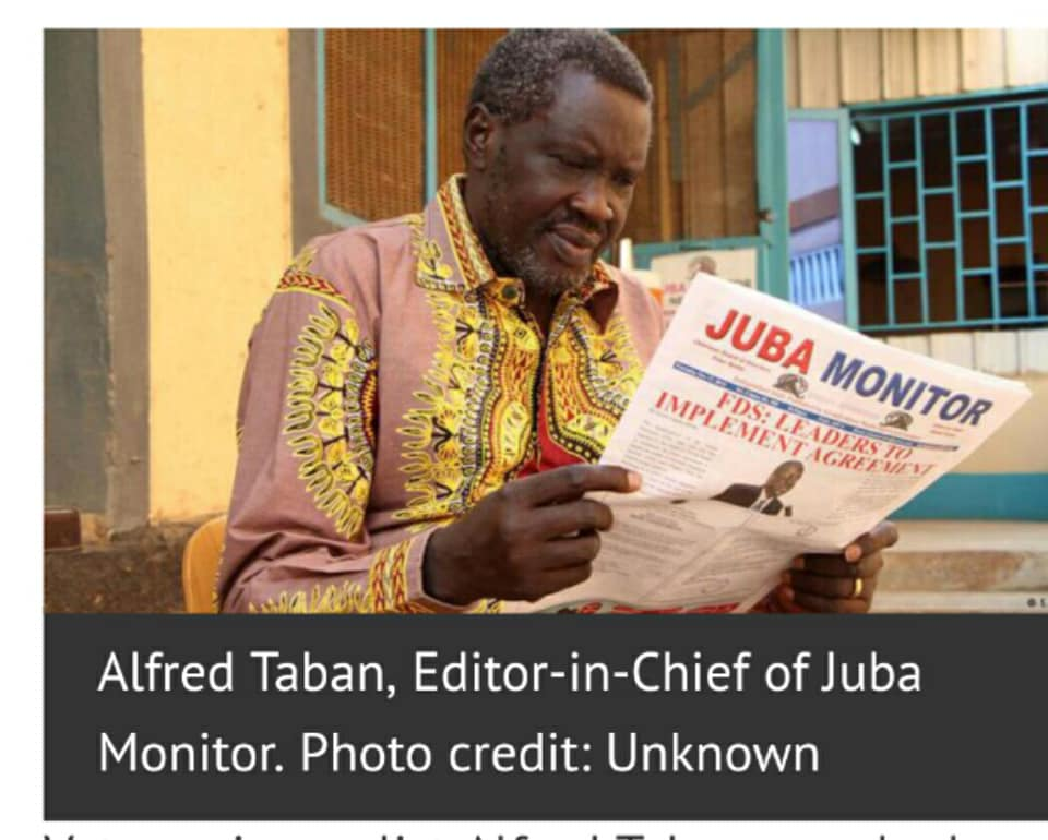 Alfred Taban Logune, South Sudanese veteran journalist and politician