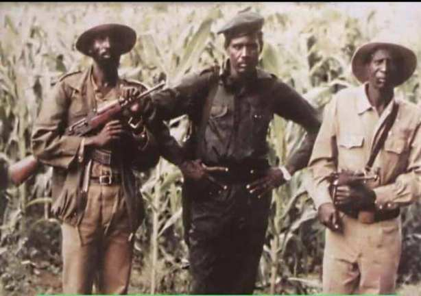 Comrade Salva Kiir, Comrade Kerubino Kuanyin and Comrade Chagai Atem Biar at the founding of the SPLM/SPLA in 1983 - photo by Comrade Atem Yaak Atem
