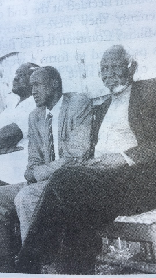CDR Kuol Manyang Juuk, CDR Achuoth Deng Achuoth and Bishop Nathaniel Garang Anyieth during the war of liberation