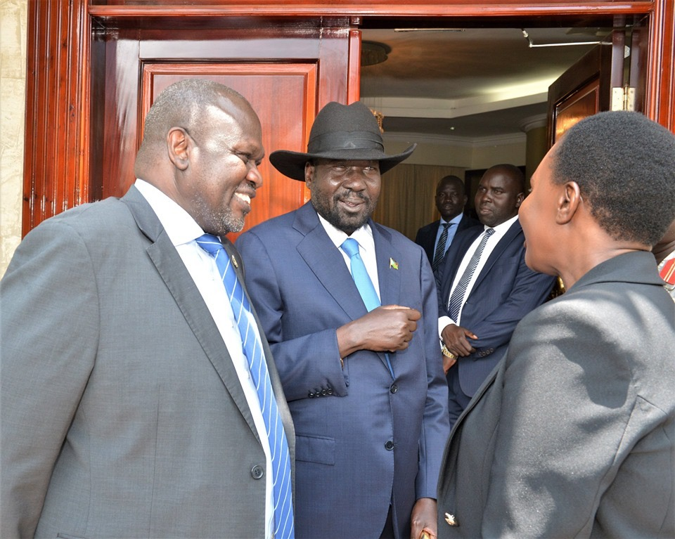 President Kiir and Riek Machar, Face to Face meeting in Juba, September 2019